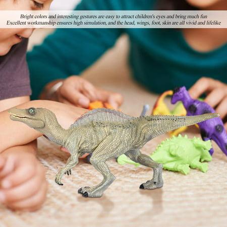 Qiilu Simulation Spinosaurus Modèle Dinosaure Jouet En Plastique Bureau À La Maison Bureau Décor Enfants Cadeau, Modèle De Dinosaure, En Plastique Modèle De Dinosaure - image 4 de 11
