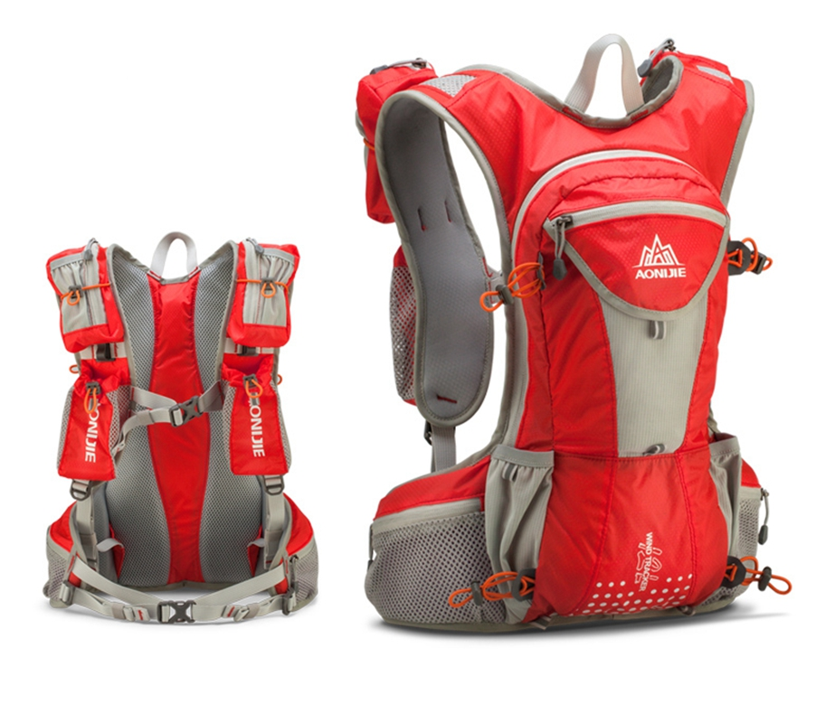 Light Weight Close-Fitting Hydration Pack Running Vest Hiking Backpack 12L Orange by GlowSol