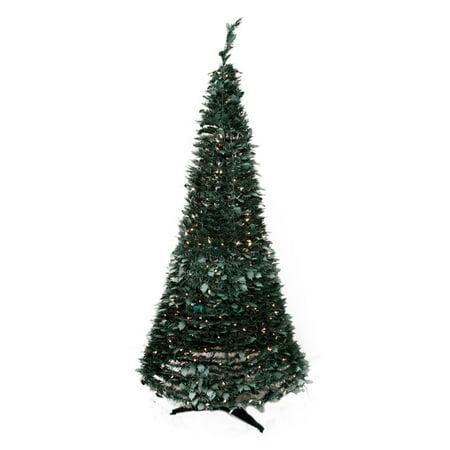 Northlight 6 Ft Pre Lit Holly Leaf Pop Up Christmas Tree