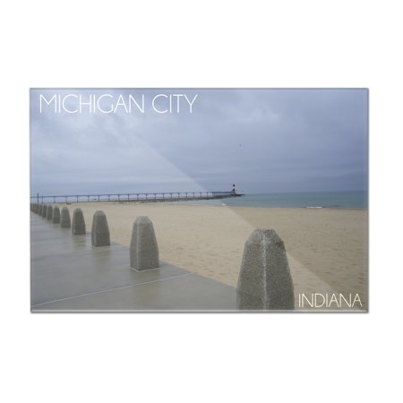 Michigan City, Indiana - Lighthouse 2 - Lantern Press Photography (12x8 Acrylic Wall Art Gallery Quality) (Michigan City Lighthouse)