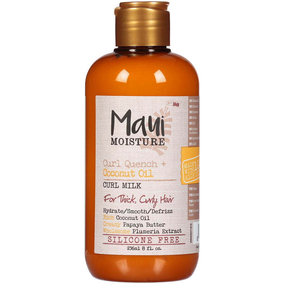 Maui Moisture Curl Quench + Coconut Oil Anti Frizz Curl Defining Hair Milk  to Hydrate and Detangle Tight Curly Hair, Softening Leave In Treatment, ...