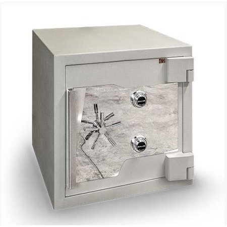 Hollon Jjx6 2424 Burglary Safe In White With Combination Dial Lock
