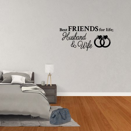 Wall Decal Quote Best Friends For Life Husband And Wife Art Words Lettering Decor PC859](Deadpool Best Quotes)