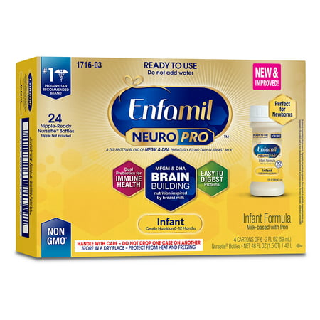 Enfamil Neuropro Baby Formula, Brain Building Nutrition - Ready to Use 2 oz (24 (The Best Formula Milk For Newborns In South Africa)