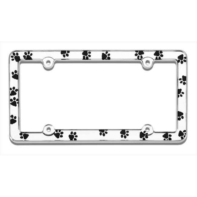 Cruiser Accessories 23033 Paws License Plate Frame, Chrome