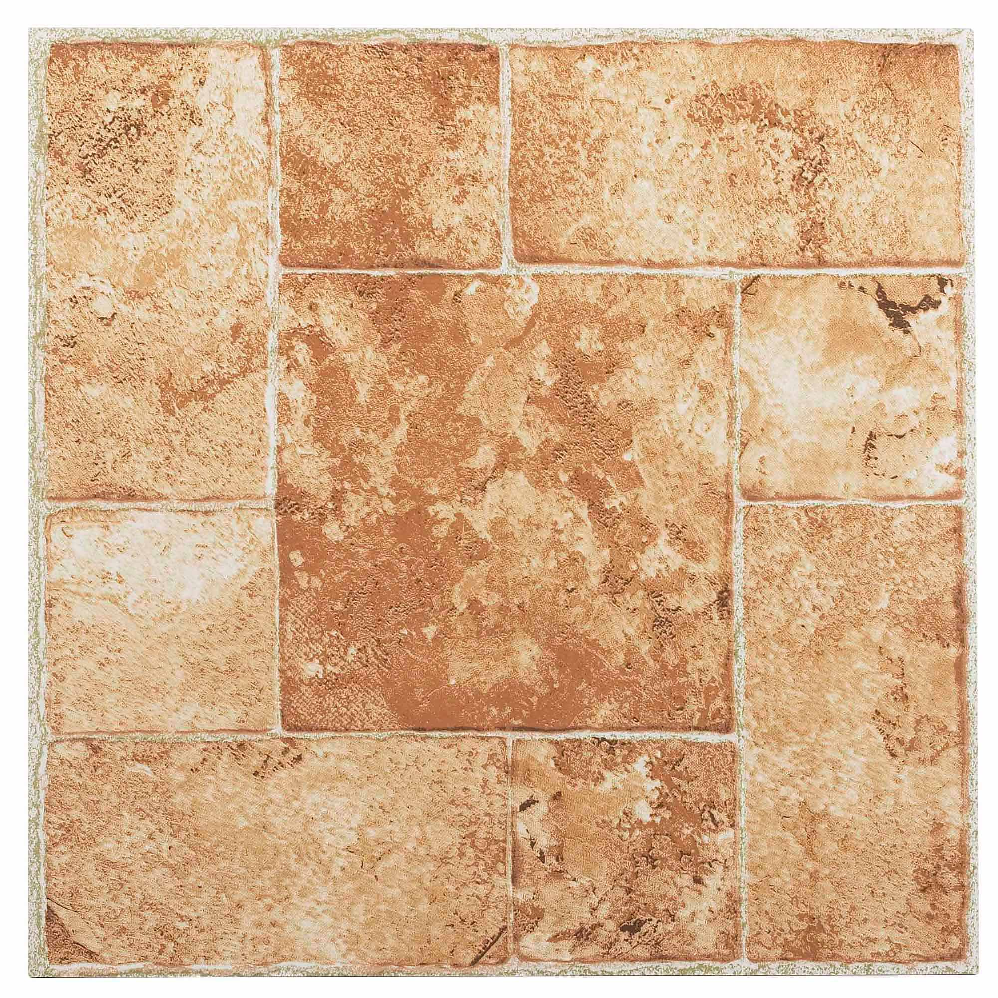 NEXUS Beige Terracotta 12x12 Self Adhesive Vinyl Floor Tile - 20 Tiles/20 Sq.Ft.