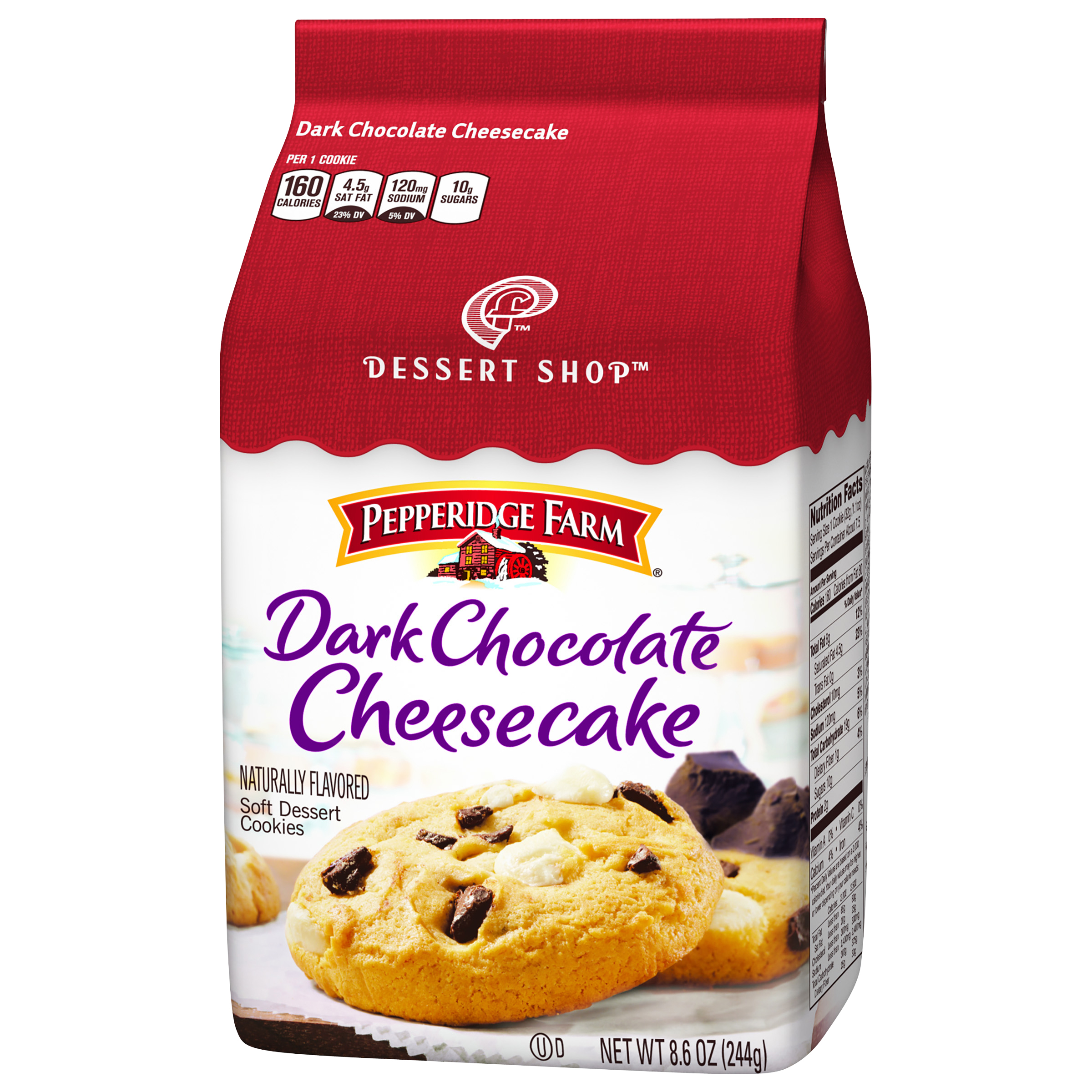 Pepperidge Farm�� Dessert Shop��� Dark Chocolate Cheesecake Soft Dessert Cookies 8.6 oz Package