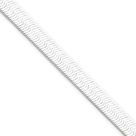 Sterling Silver 7in 5.25mm Magic Herringbone Chain Bracelet