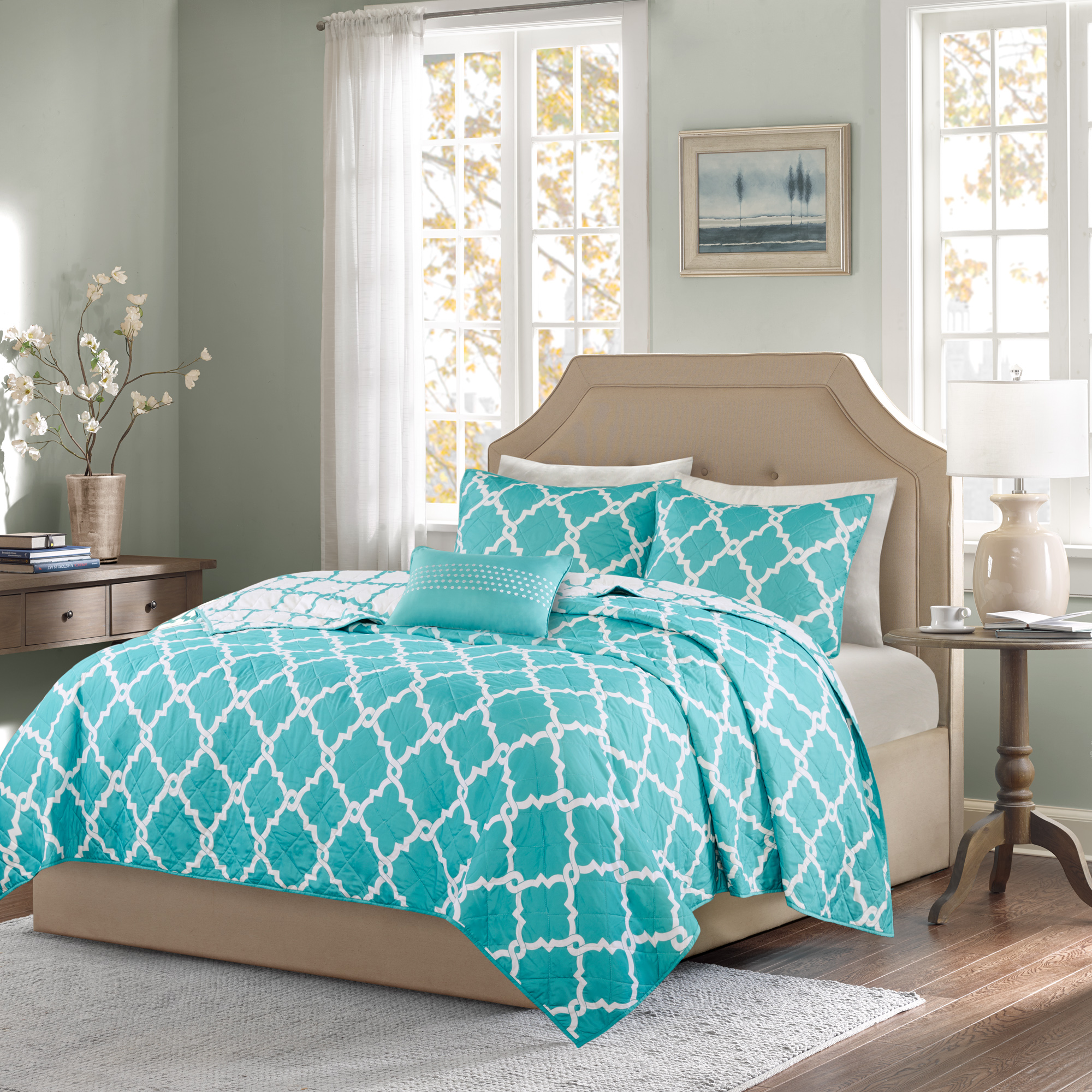 Home Essence Becker 4 Piece Reversible Coverlet Set