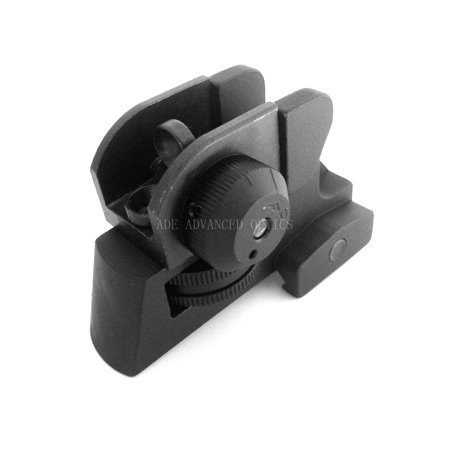 Detachable Rear Sight Dual apertures A2 rear sight Fits All Flat (Ar 15 Flat Top Riser)