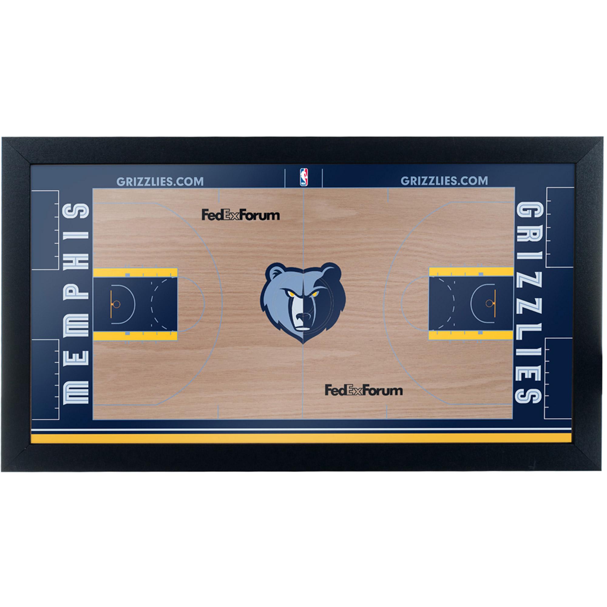 Memphis Grizzlies Official NBA Court Framed Plaque