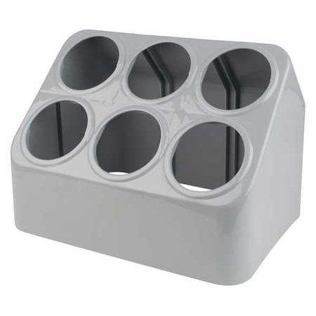 vollrath 52644 gray silv a tainer 6 hole plastic silverware