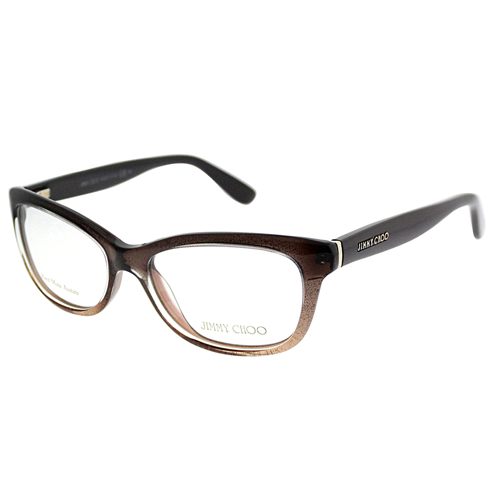 Jimmy Choo Ladies Black Rectangular Eyeglass Frames