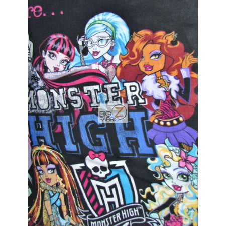 David Textiles Fleece Printed Fabric / We Are Monster High / Sold By The Panel