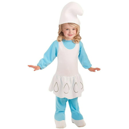Smurfs The Lost Village Smurfette Toddler Girls Costume Romper-Todd](Toddler Smurfette Costume)