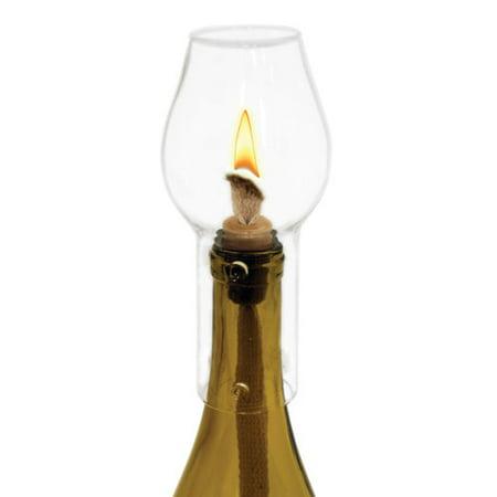 Wine Bottle Hurricane - ceramic wine stopper, Hurricane table Topper decorative bottle glass lamp