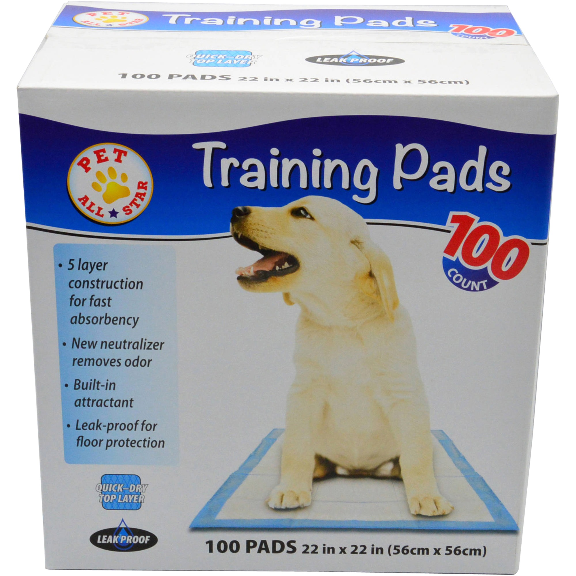 Pet All Star Puppy Pads, 100 count