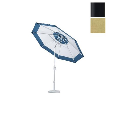 9 ft. Aluminum Market Umbrella Collar Tilt - Matted Black-Sunbrella-Heather