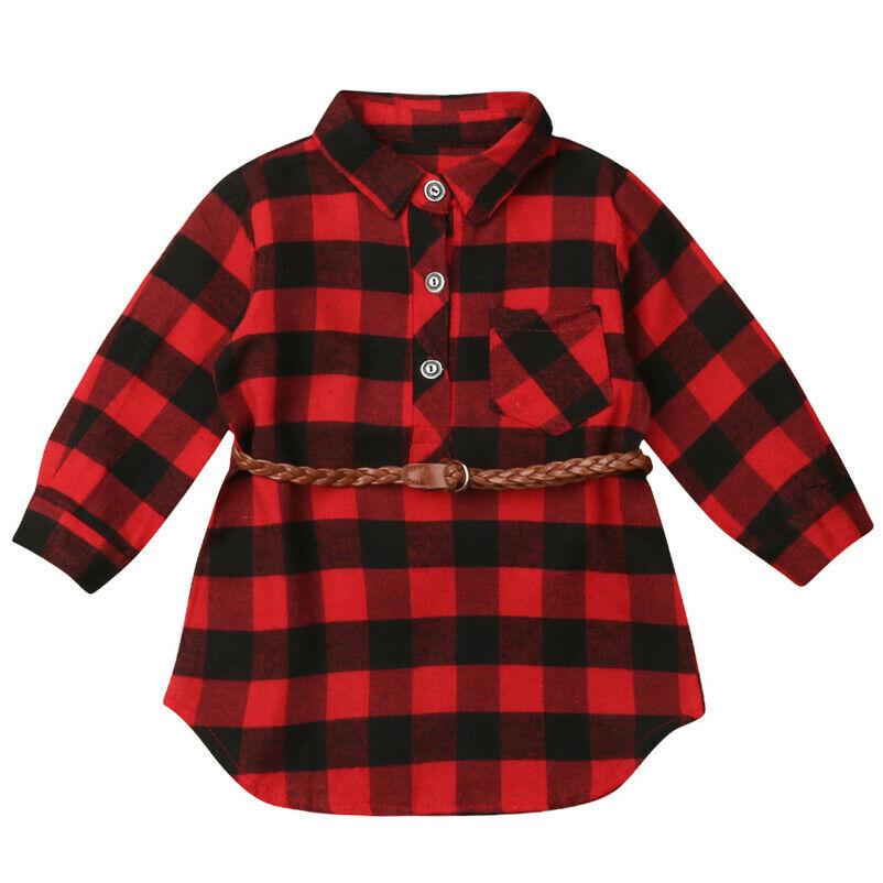 Op Baby Girls Red Plaid Tunic Hoodie Top /& Red Leggings 2-Piece Set 12 Month