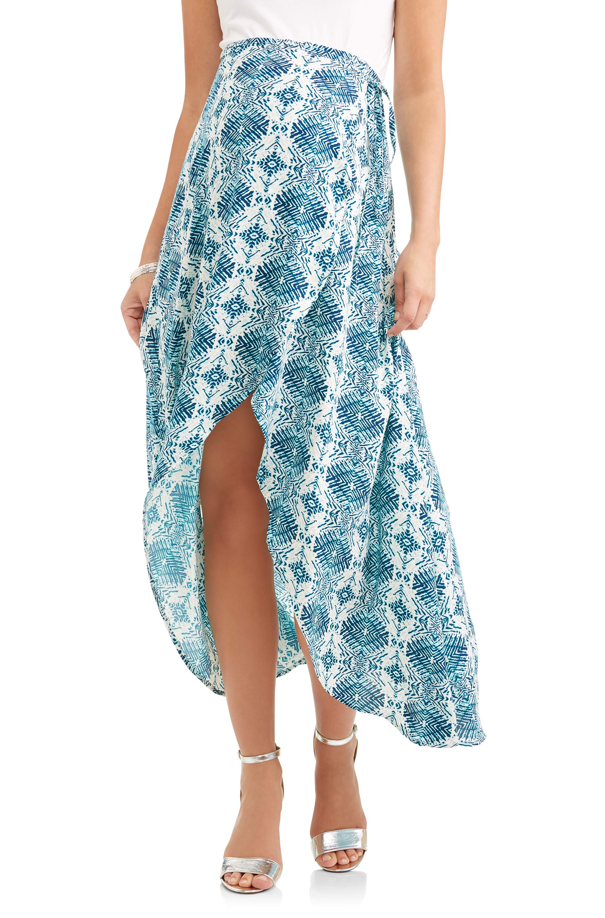 Maternity Wrap Skirt with Side Tie - Walmart.com