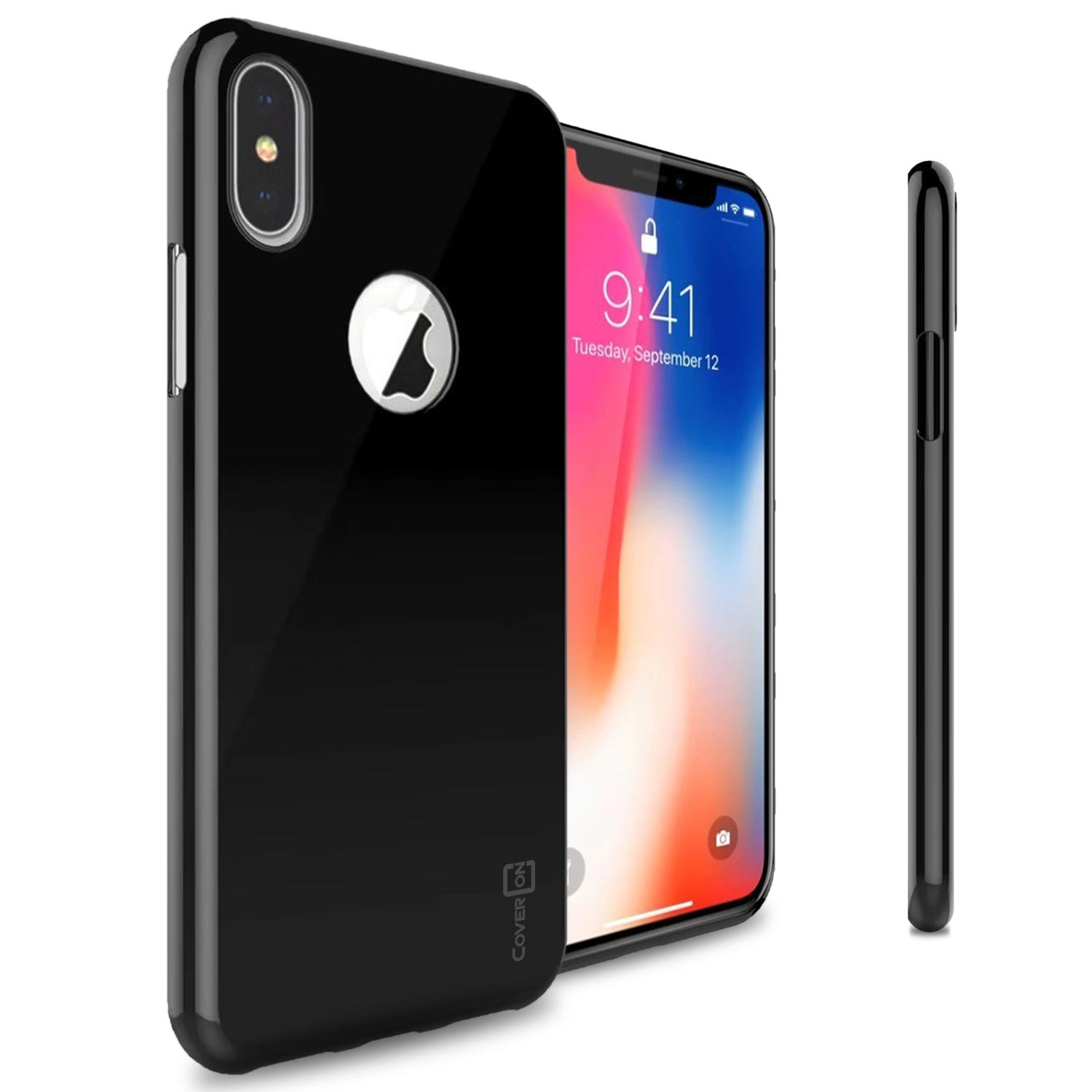 CoverON GlexGuard Series Case for iPhone X, Black