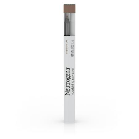 Neutrogena Nourishing Eyebrow Pencil and Brush, Soft Brown 20,.04 oz