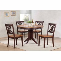 Iconic Furniture Contemporary 45 in. Double X-Back 5 Piece Round Dining Table Set