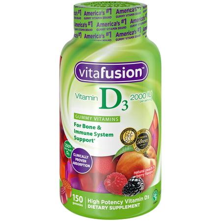 (2 Pack) Vitafusion Vitamin D3 Gummy Vitamins, 150 -