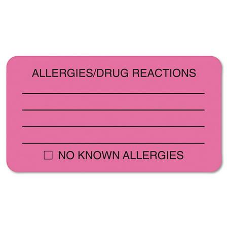 Tabbies, TAB01730, ALLERY/DRUG REACTIONS Alert Labels, 250 / Roll,
