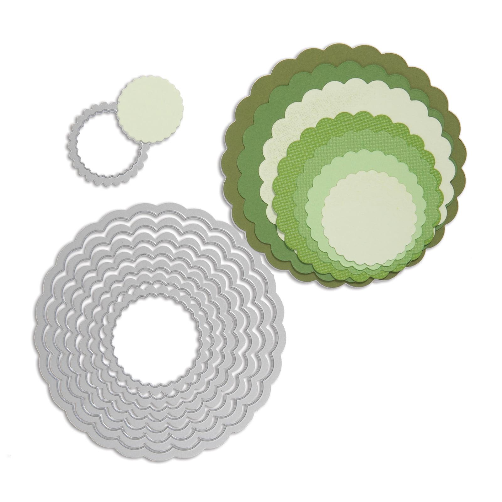 Sizzix Framelits Dies - Circles, Scallop