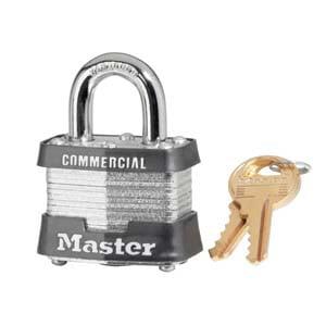 """6 Pack Master Lock 3KA-0356 1-9/16"""" Wide Keyed Alike"""