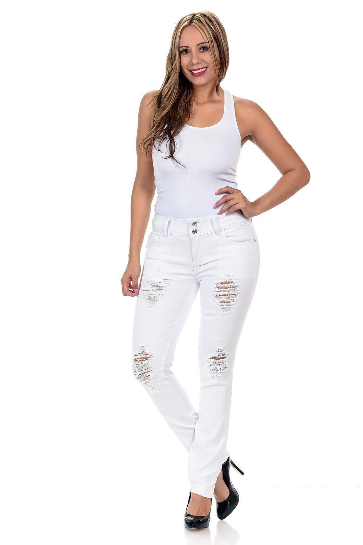 M.Michel Women's Jeans Colombian Design, Butt Lift, Levanta Cola, Push Up, Skinny · Style N2011AH-R