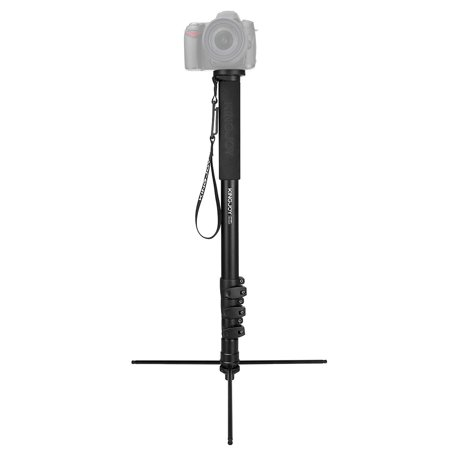 KINGJOY MP408FL Photography Camera Monopod Tripod Aluminum Alloy 4-Section 60.5-167.5cm Adjustable Height Max. Load 15kg with 1/4 Inch & 3/8 Inch Screw Mount for Canon Nikon Sony DSLR Cameras - image 5 de 7