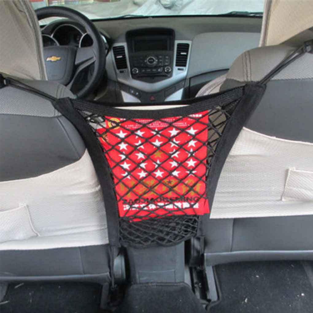 Strong Elastic Car Mesh Net Bag Between Car Organizer Seat