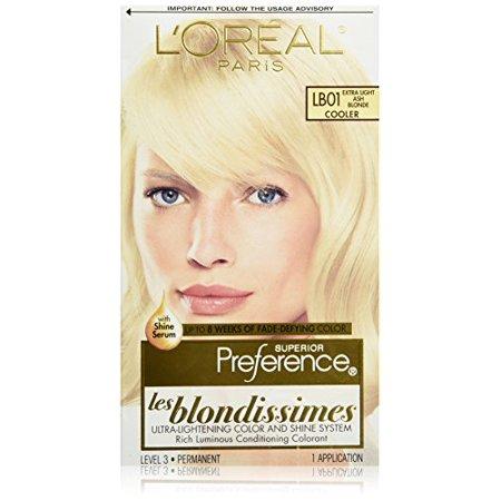 2 Pack L'Oreal Superior Prefer Les Blondissimes LB01 Extra Light Ash Blonde 1