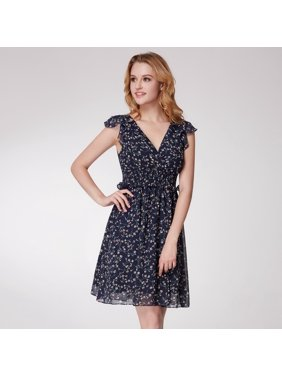 e20a995f865220 Product Image Alisa Pan Women s Fashion Short A Line Floral Print V Neck  Summer Casual Dresses for Women