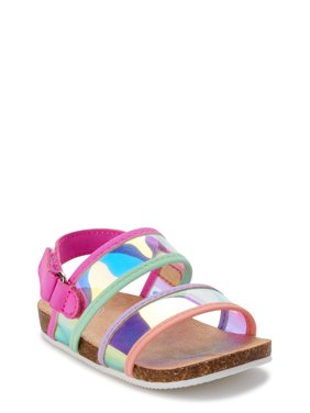 Wonder Nation Multi Metallic Footbed Sandal (Infant Girls)