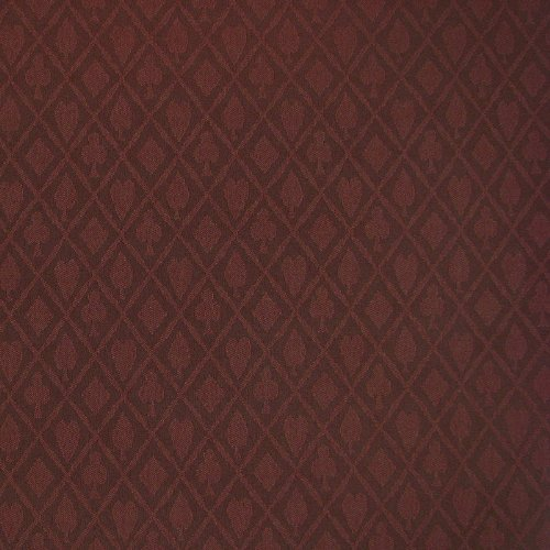 3 Yards of Suited Waterproof Poker Tablecloth, Burgundy, Beautiful Diamond cloth for your gameroom table By Stalwart by