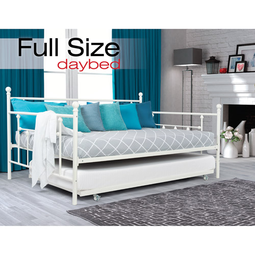DHP Manila Full Day Bed and Twin Trundle, White by Dorel Home Products