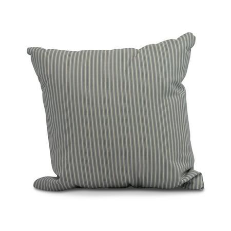 Simply Daisy, 16 x 16inch,Ticking Stripe Decorative Pillow,Navy Blue ()