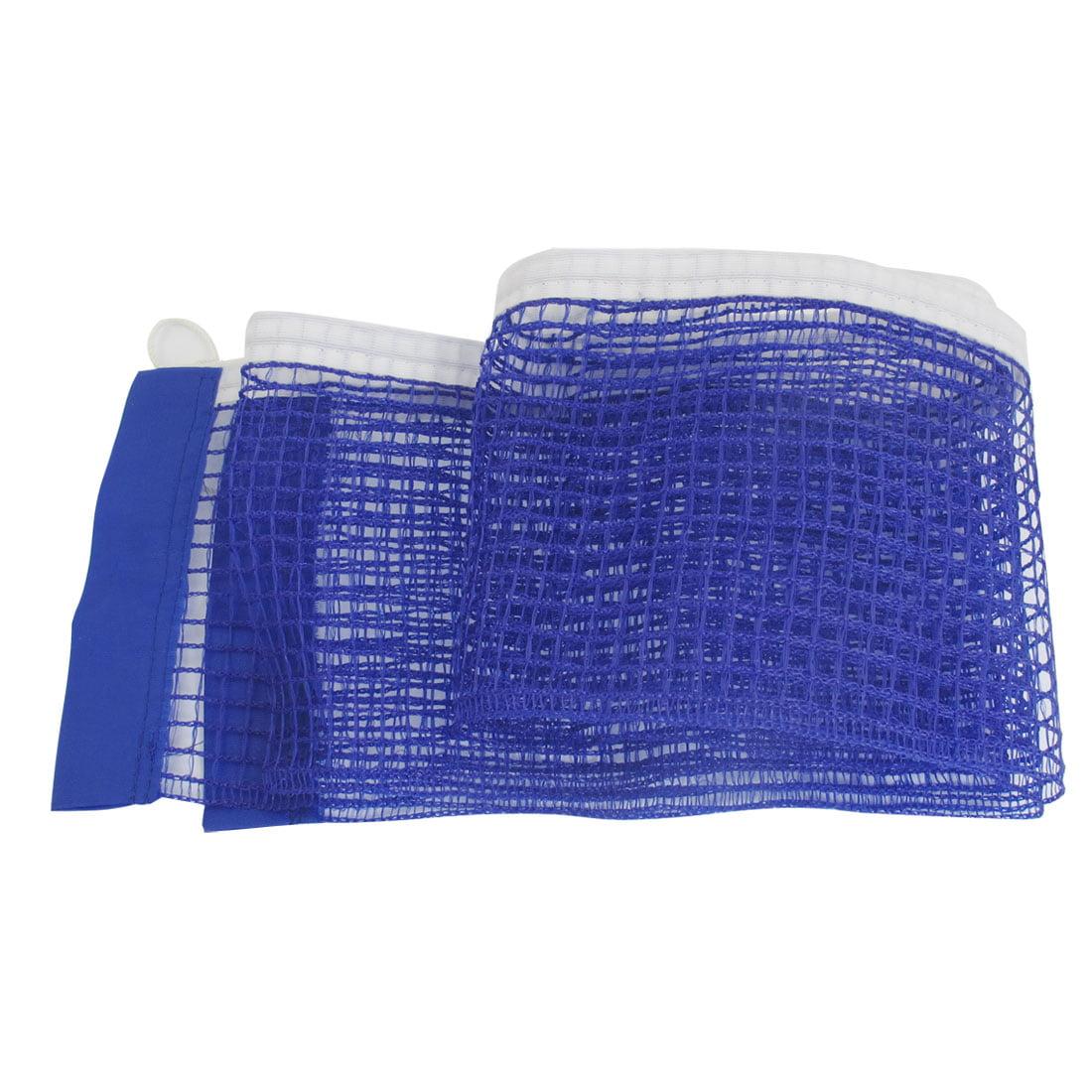 """70.9"""" x 5.6"""" Portable Meshy Braided Nylon Ping Pong Net Table Tennis Net Blue"""