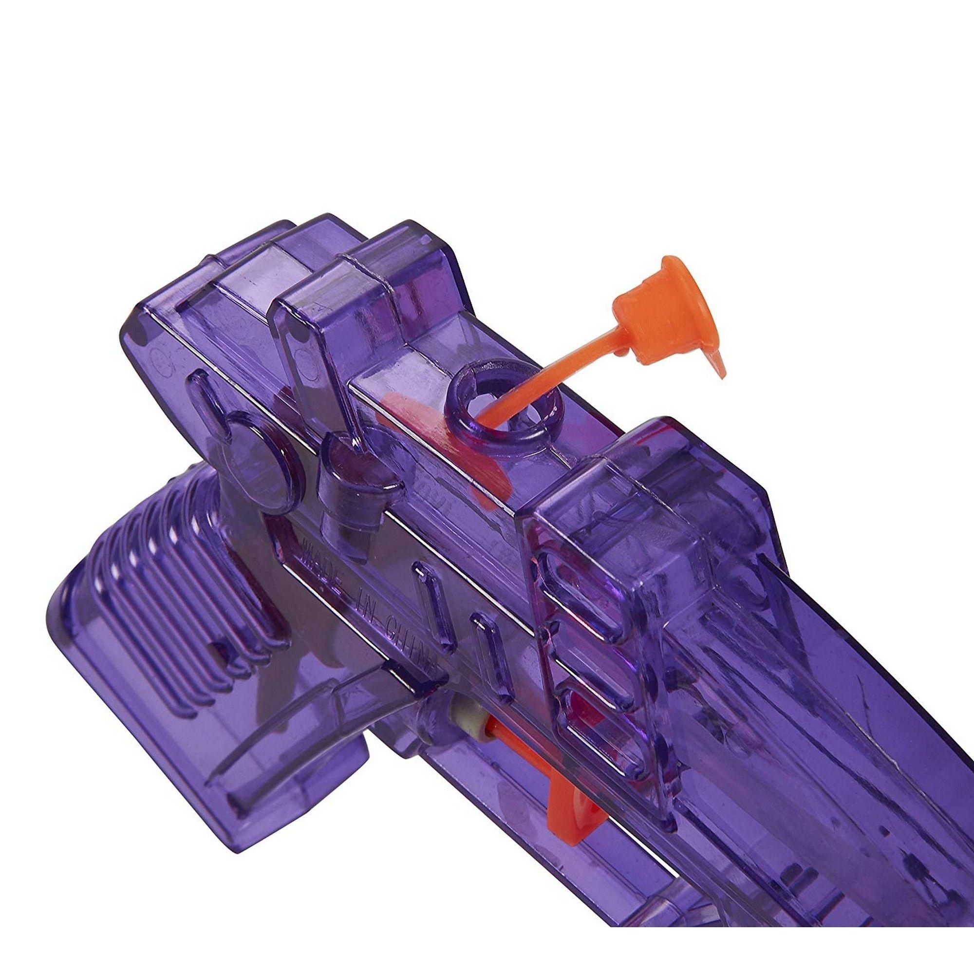 Warenfux24 Wasserpistole Transparent 13 cm Revolver orange pink 3er Pack gr/ün