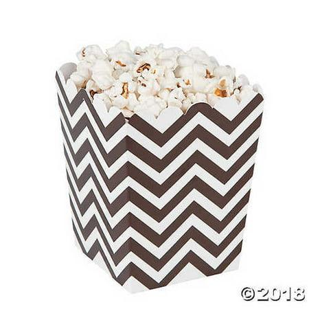 Mini Chocolate Chevron Popcorn - Mini Popcorn