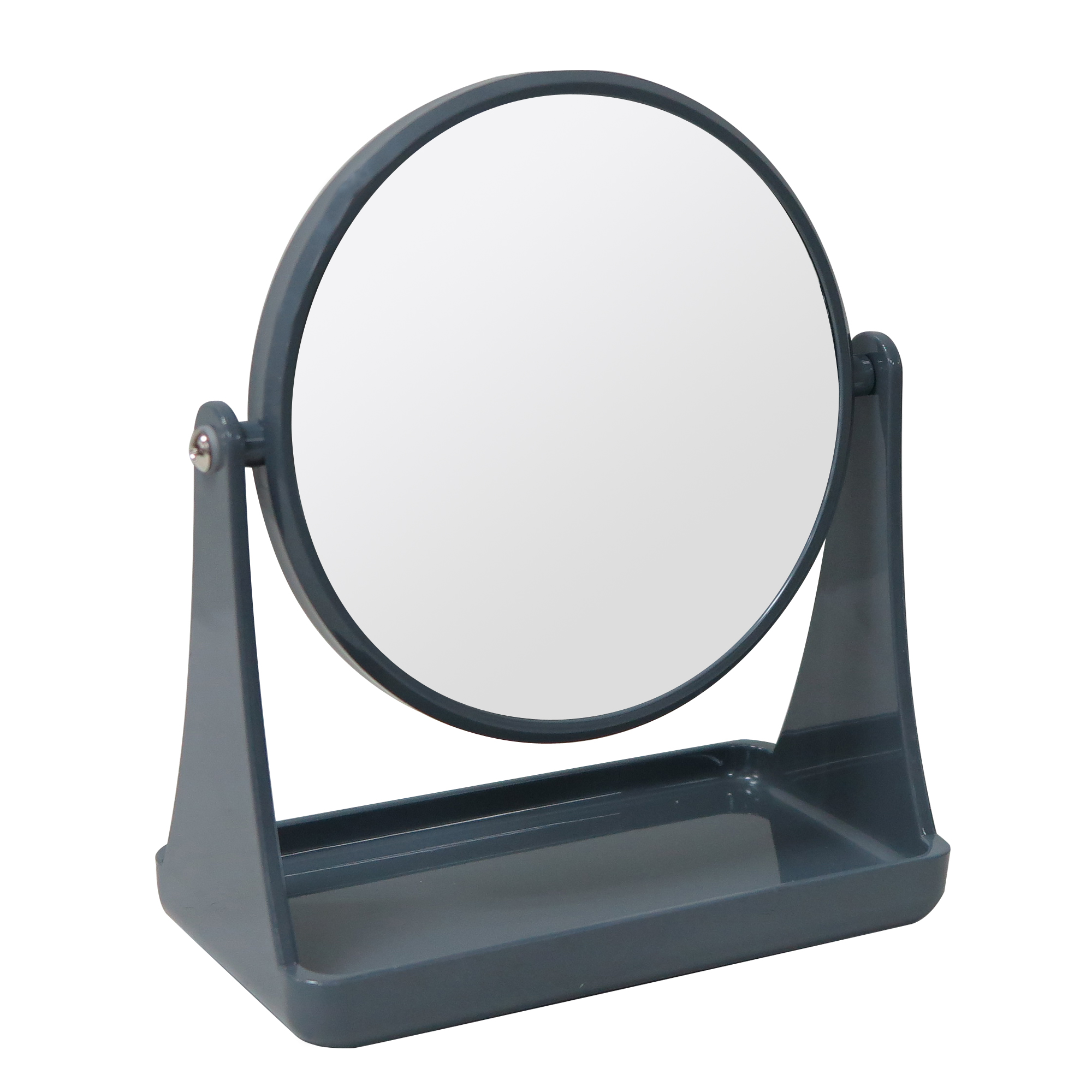 Mainstays Double-Sided Mirror with Tray Base