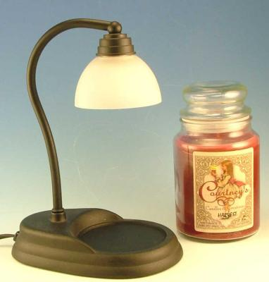 Aurora Black Candle Warmer Gift Set - Warmer and Courtneys 26 oz Candle - FRENCH VANILLA