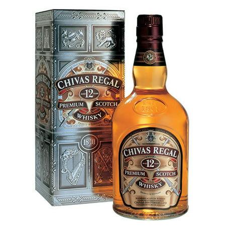 Chivas Regal Whiskey, 80 proof, 1 L