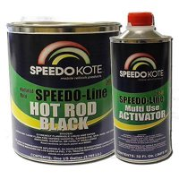 Hot Rod Black Paint, Satin 2K Urethane, 4:1 Gallon Kit w/Activator