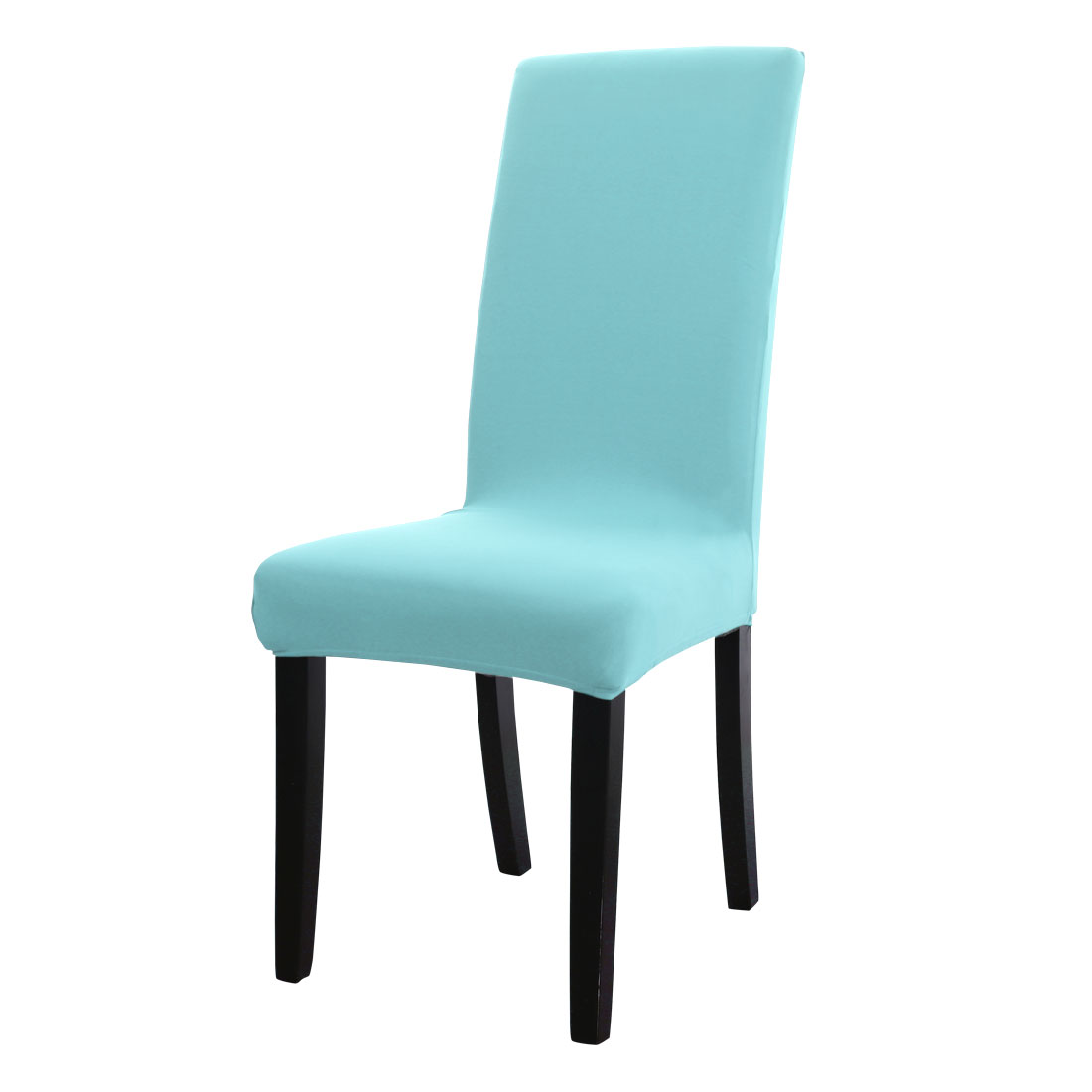 spandex washable dining room stool chair cover protector slipcover sky blue