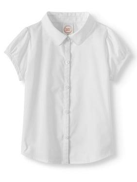 13cd575e0b2128 Product Image Toddler Girls School Uniform Short Sleeve Poplin Blouse