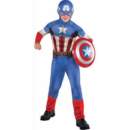 Avengers Captain America Classic Boys Small Halloween Costume Dress Up](Captain Halloween Costumes)